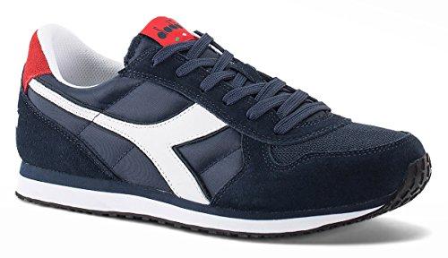 diadora-herren-k-run-ii-sneaker-low-hals-blau-blu-scuro-rosso-ferrari-italia-44-eu