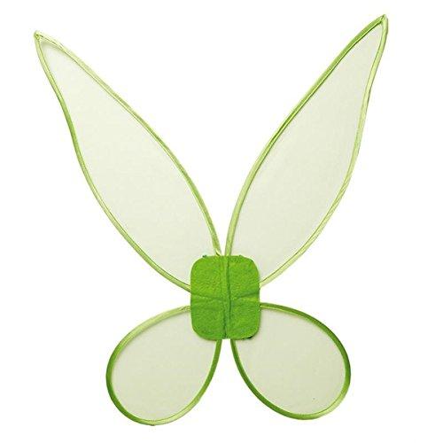 Rubie's Feenflügel Grün Fee Flügel Zauberwelt Kinder Mädchenkostüm - Tinkerbell Feen Kostüm