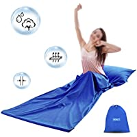 DOACT Sleeping Bag Liner Cotton 100% for Camping, Sleep Bed Sheet Set with Zipper Lightweight Envelope for Travel, Outdoors, Hotel Summer Super Soft 30'' x 85''