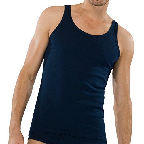 Michaelax-Fashion-Trade -  T-shirt - Basic - Senza maniche  - Uomo navy (815)