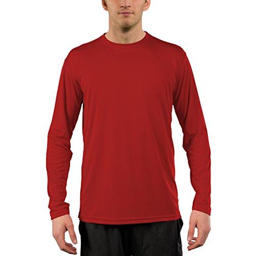Vapor Apparel Herren UPF 50+ UV Sonnenschutz Langarm Performance T-Shirt X-L Mars Rot