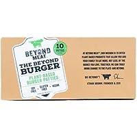 Beyond Meat Burger | Hamburguesa 100% Vegetal | Plant Based | Sin Gluten | Sin Soja | Vegano | Pack de 10 Patties (1,14 kg)