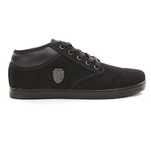 Solamode - Jungen Sneaker mit Schnürung - Rivaldi RB7 - Unisex - Schwarz - Achtung! Es ist äußerst empfohlen eine Größe über Ihre eigentliche Größe zu wählen. Schwarz