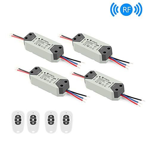 eMylo Smart Wireless RF Motor Controller Schalter Relaismodul AC 220V Motor Fernsteuerungsschalter 90V-250V 433Mhz für Rolltor/elektrischer Vorhang/Wasserpumpe Control Motor Vorwärts/Rückwärts 4 Pack