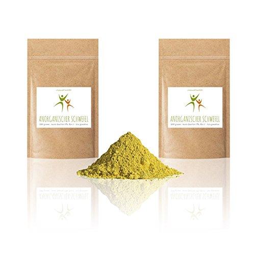 Anorganischer Schwefel (sulfur) - 1 kg (2 x 500 g) - BESTSELLER - 99,9% pharmazeutisch rein (Ph. Eur.) - fein gemahlen - Schwefelpulver - aus Naturrohstoff - säurearm - in geprüfter Qualität -