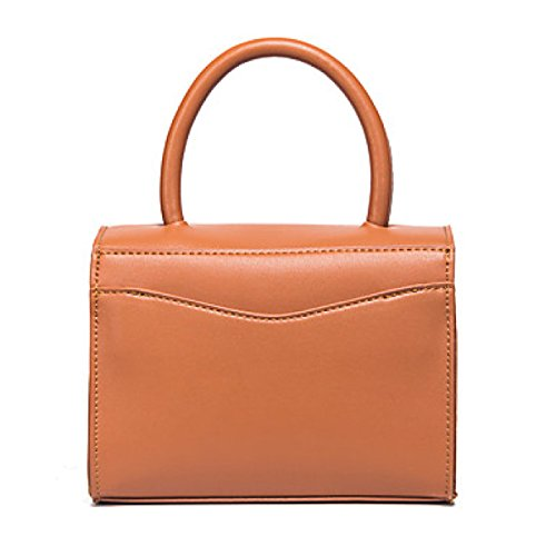 DFUCF Damen Damen PU Büro Beruf Umhängetasche Kuriertasche Handtasche Umhängetasche Tasche Mode Lässig Robust Langlebig Brown