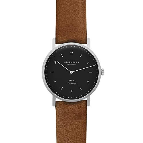 STERNGLAS JUNIS 38 Bauhaus Uhr mit Anti-Reflex Saphirglas | Schnellwechselband | KICKSTARTER |...