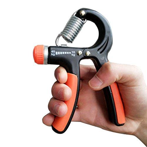 Hand Power Grip Exerciser 10-40Kg Forearm Strength Training Adjustable Heavy (Orange Black)