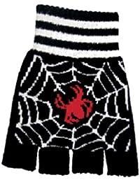 Fingerlose Handschuhe Spinne mit Netz