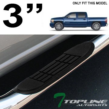 VioGi Fit:01-13 Silverado/Sierra 1500/2500/3500 LD/HD Crew Cab 3 S/S Side Step Rails Nerf Bar Running Boards by
