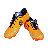 ADI Men's and Boys Orange Football Studs Shoes Boots, Size 6