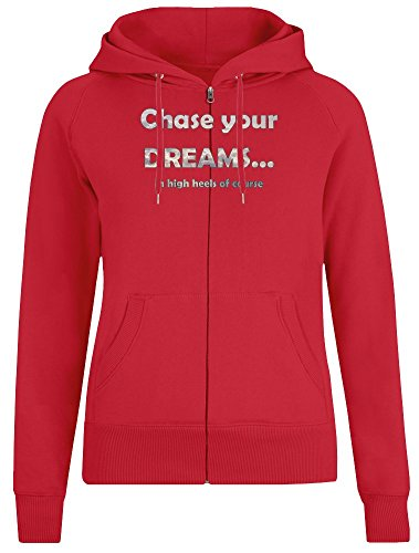 Wählen Sie Ihre Träume in hohen Absätzen des Kurses - Choose Your Dreams In High Heels of Course Zipper Hoodie Jumper Pullover for Women 100% Soft Cotton Womens Clothing Small 100 Womens High Heels