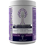Hydrolysed Collagen Protein Peptides Powder for Strong Bones, Muscles, Joint Pain, Wrinkles, Healthy Hair, Nails, Sleep & Skin, Leaky Gut, 20x More + 15x Cheaper Than Capsules, Tasteless and BSE Safe