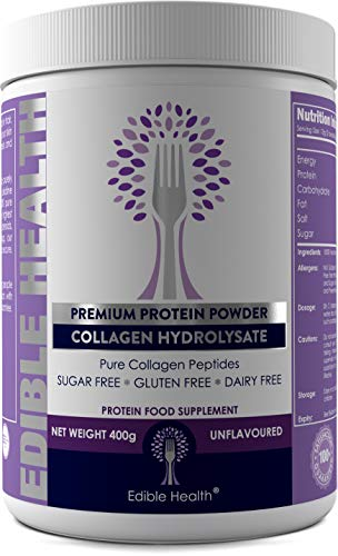 BOVINE Hydrolysed Collagen Protein Powder - Wrinkles, Hair, Skin, Nails, Bones, Joints, Gut, Pain, Injury, Sleep, IBS, Fitness, Keto,13,000mg dose, 20x Stronger & 15x Cheaper Than Capsules, BSE Safe