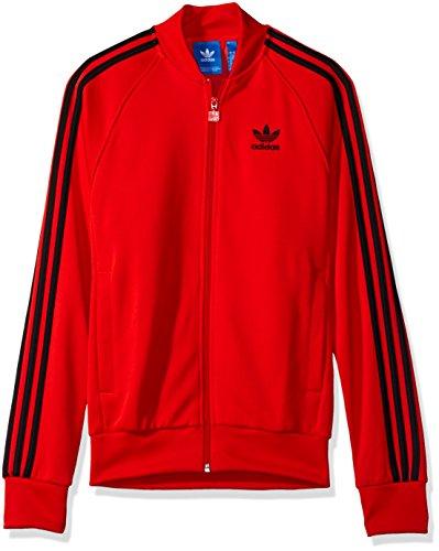 Giacca da uomo Adidas Originals Superstar rilassante nero BK3612 Core Red