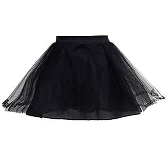 HIMRY Design Jupon de Mariée en Crinoline Jupon, 2 couches, avec Lacet, Taille Unique, Adéquat pour Taille 34, Taille 36, Taille 38, - Noir - KXB-0013 Black
