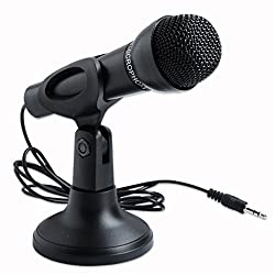 "iConnect Worldâ""¢ Omnidirectional 3.5mm Microphone with Stand for Laptop, PC - (Black)"