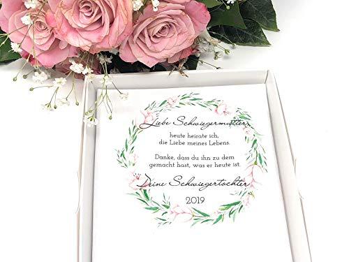 Hochzeit Geschenk Schwiegermutter - Stofftaschentuch für Freudentränen (Braut-taschentuch Der Mutter)