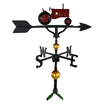 Montague Metal Products Deluxe Wetterfahne mit rotem Traktor, 81 cm