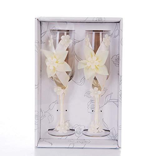 e Herzen mit Diamanten Champagner Flöten - Hochzeit Gläser für Braut und Bräutigam, Toasten Tassen Geschenk-Sets für Paare - Engagement, Hochzeit, Haus Erwärmung Geschenk Fun ()