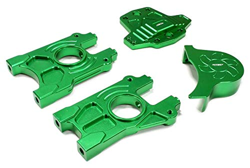 Integy RC Model Hop-ups C25502GREEN Billet Machined Alloy Center Differential Mount Set for Losi 5ive-T -