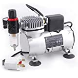 Timbertech Professional Piston Airbrush Compressor with Motor Cool Down Fan ABPST07 Airbrush Mini