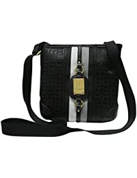 Tommy Hilfiger Womens  Crossbody Bag Small Shoulder Bag (Black Tonal) 0a63cf5e57982