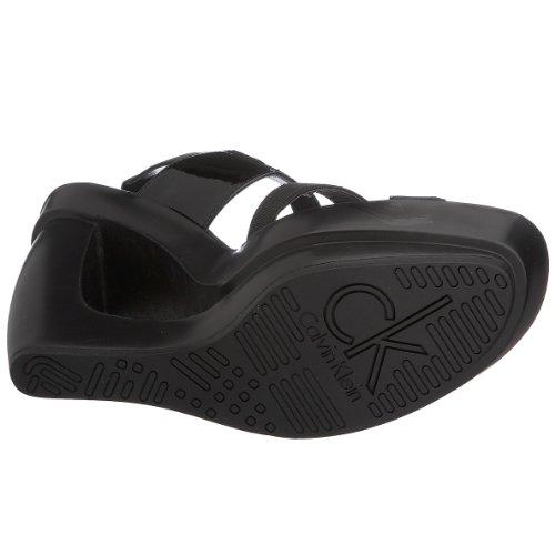 Calvin Klein Yursa N10072 Damen Wedge Sandale Keilabsatz Schwarz