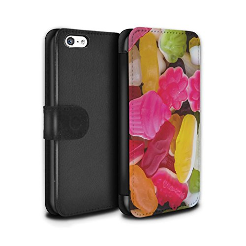 Stuff4 Coque/Etui/Housse Cuir PU Case/Cover pour Apple iPhone 5C / Lacets Fraises Design / Confiserie Collection Guimauve/Gelée