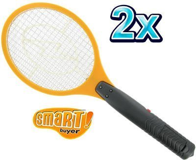 2 X ELECTRIC ELECTRONIC FLY SWATTER BUG ZAPPER BUG