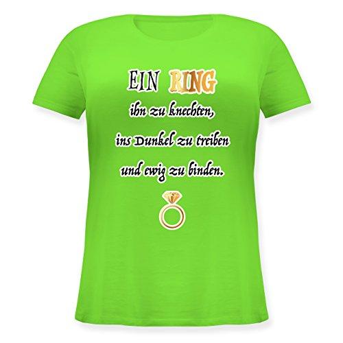 JGA Junggesellinnenabschied - EIN Ring. JGA - M (46) - Hellgrün - JHK601 - Lockeres Damen-Shirt in großen Größen mit Rundhalsausschnitt