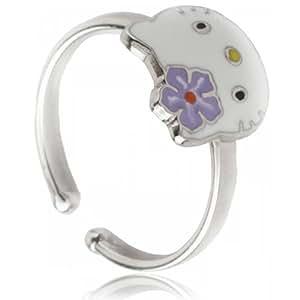 Hello Kitty Girl's Ring K22001A–925/1000Silver–Purple