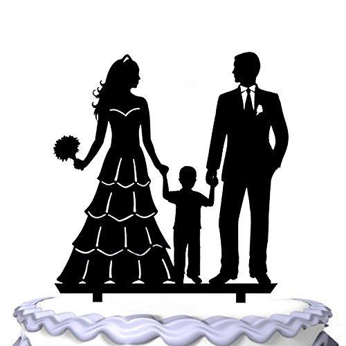 aut und Bräutigam mit kleinen Jungen Familien-Party-Dekoration ()