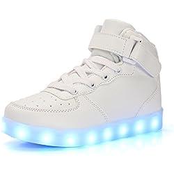 DoGeek Scarpe LED bambini Scarpe Che Illuminano Bambino Scarpe Luminose Scarpa Bambino LED Bambina la Sportiva Scarpe con Luci Sneakers