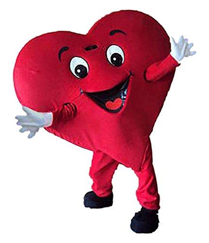 rot herz kostüm Unisex erwachsene größe Lust party - kleid (Maskottchen Kostüme Tragen)