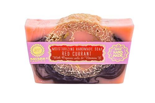 ROTE JOHANNISBEERE Fruchtige Handgemachte Seifen mit Luffa-Schwamm-Kürbis | 100% Bio, Vegan und ohne Tierversuche | Handseife | Duftseife in vielen verschiedenen Sorten
