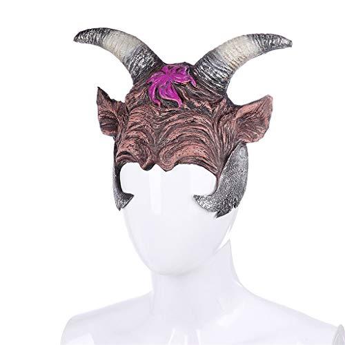 Stirnbänder Kostüm Hüte Tier - Yncc Halloween Maske - Realistische Neuheit Kostüm Party Maske Kostüm Halbmaske Tier Halbmaske Gesicht Neuheit Cosplay Kostüm Party (C)