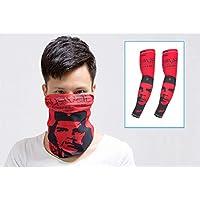 DQWGSS Bufanda Brazo Manga Falso Tatuaje Protección UV Refrigeración para Hombres Mujeres Niños para Ciclismo Conducir Deportes al Aire Libre Golf 1 Pares Manga + 1 Bufanda,Style 4