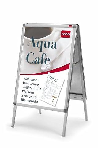 Panneau Affichage Sur Pied - Nobo - Chevalet porte-affiche clipsable