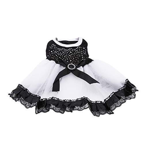 VWH Haustier Hund Katze Tutu Spitzenkleid Kleidung Party Kleid Prinzessin Bekleidung (XL)