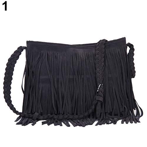 Shoppingba - Bolso Bandolera Mujer Flecos borlas