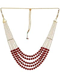 3a41a74baa14 Sansar India 1259 - Collar Indio de Cinco Capas con Cuentas para niñas y  Mujeres