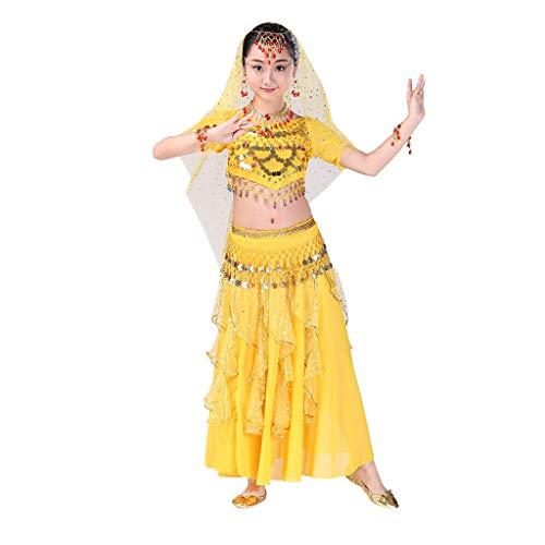 Bauchtanz Kostüm Set,Covermason Handgefertigt Kinder Mädchen Bauchtanz Kostüme Kinder Bauchtanz Indisches Ägypten Tanzen Kleider Karneval Cosplay Kostüm (Tanzen Kostüm Kinder)