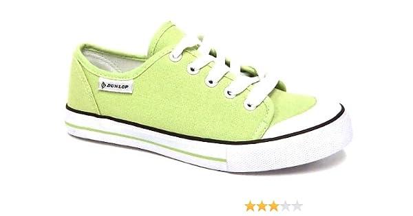 b819c77d793ec NEW DUNLOP WOMENS LADIES LACE UP CANVAS PUMPS PLIMSOLLS TRAINERS SHOES SIZE  3-8 FROM SPOTTIBOX (5, Light Green): Amazon.co.uk: Shoes & Bags