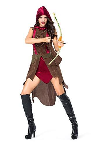 VENIMASEE Spartanischer Weiblicher Krieger der Frauen Alter römischer Bogenschütze/Gladiator Halloween Cosplay Kostüm-Kostüm