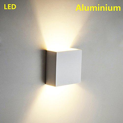6W LED Wandleuchten Aluminium Waterproof Wall Lamp Innen Badezimmer 85-265 V 3000K Indoor für Wohnzimmer, Schlafzimmer, Bad, Flur, Balkon, Treppen, Pfad, Terrasse (Warmweiß) Kreative minimalistische (Aluminium Outdoor Wandleuchte)
