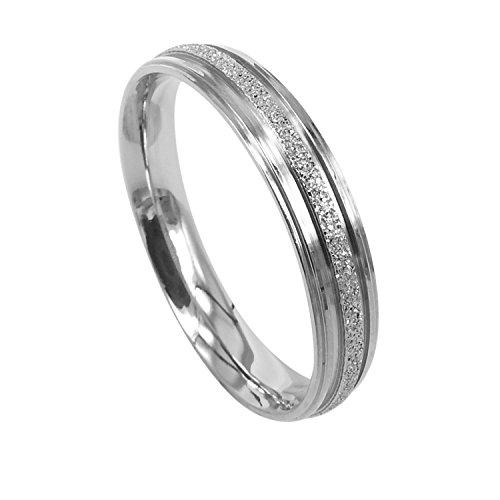 Everstone Damen-Ring Titan gewölbt - Ehering oder Valentinstagsgeschenk mit 4 mm Dicke und Silberton