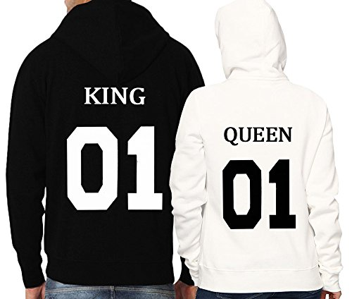 *Partner Look Pärchen Hoodie Set King Queen Kapuzen Shirts*