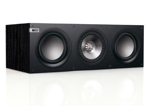 KEF Q200C–Lautsprecher (Tischplatte/Bücherregal, universal, Eingebaut, 50–40000Hz, Schwarz, 3-Wege)