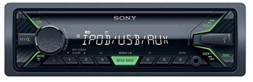 Sony DSX-A202UI Mechaless Autoradio (USB, AUX Anschluss, MP3/WMA/FLAC, Apple iPod/iPhone Control Funktion) schwarz